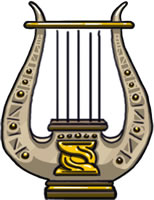 Lyre: A legendary artifact whose strings almost strum themselves